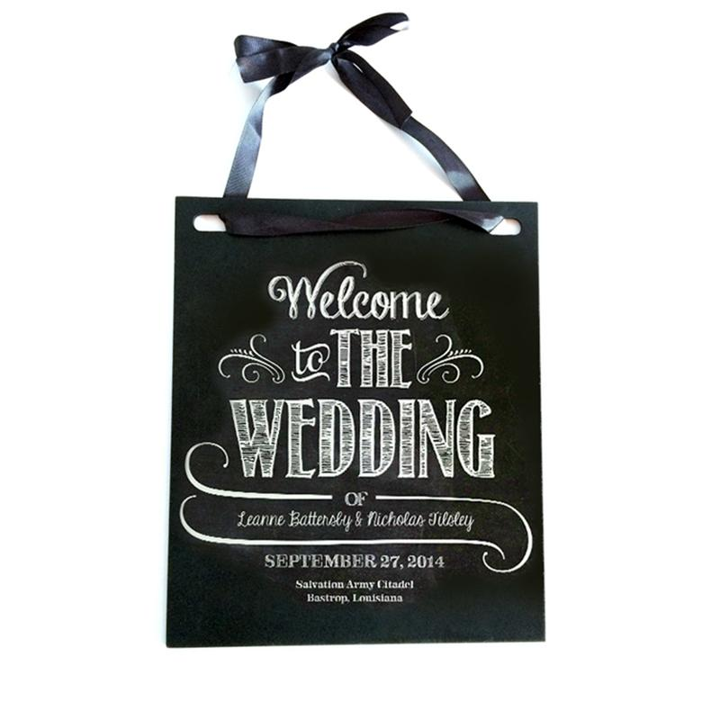 Vintage Hanging Chalkboard Wedding Party Signs Photo Props Wedding Direction Double Sided Sign