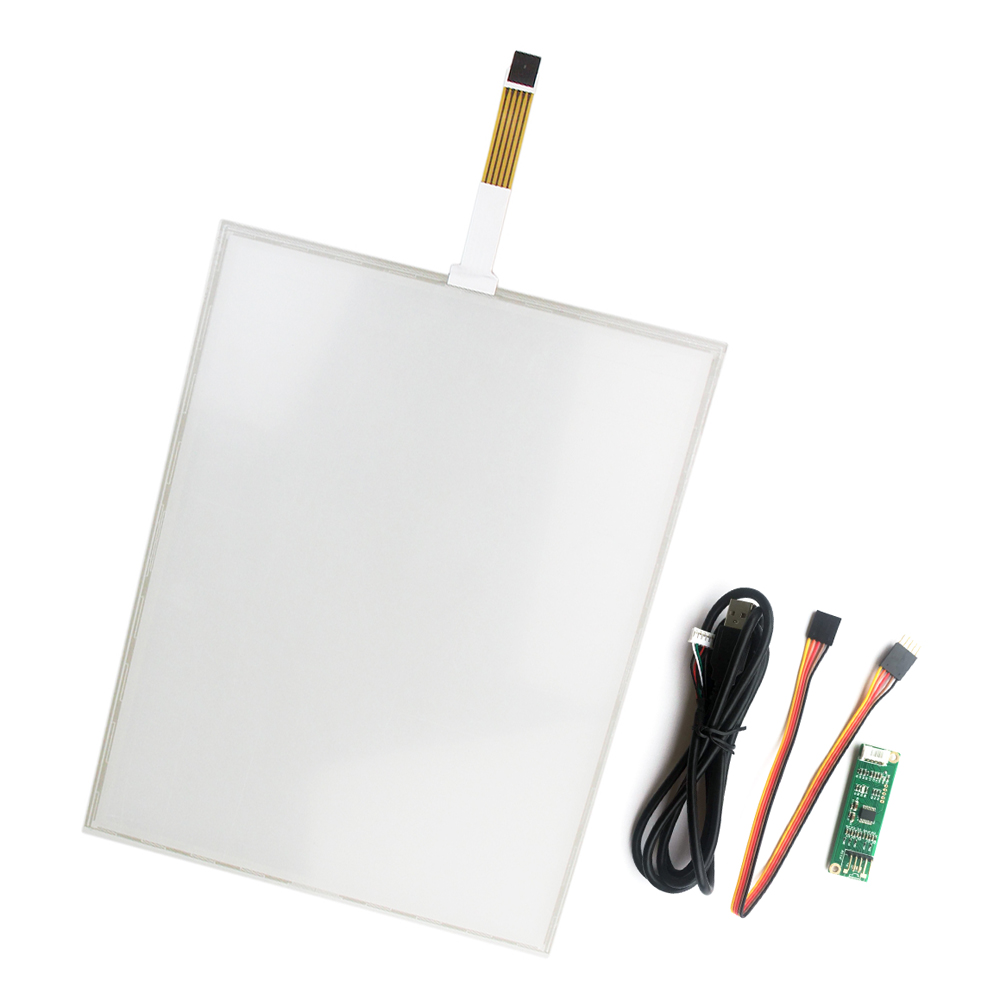 New 5 wire 15 Inch USB touch Screen+USB Controller Board 322*247mm touch panel, 5 wire resistive industrial USB touch Glass amt 146 115 4 wire resistive touch screen ito 6 4 touch 4 line board touch glass amt9525 wide temperature touch screen