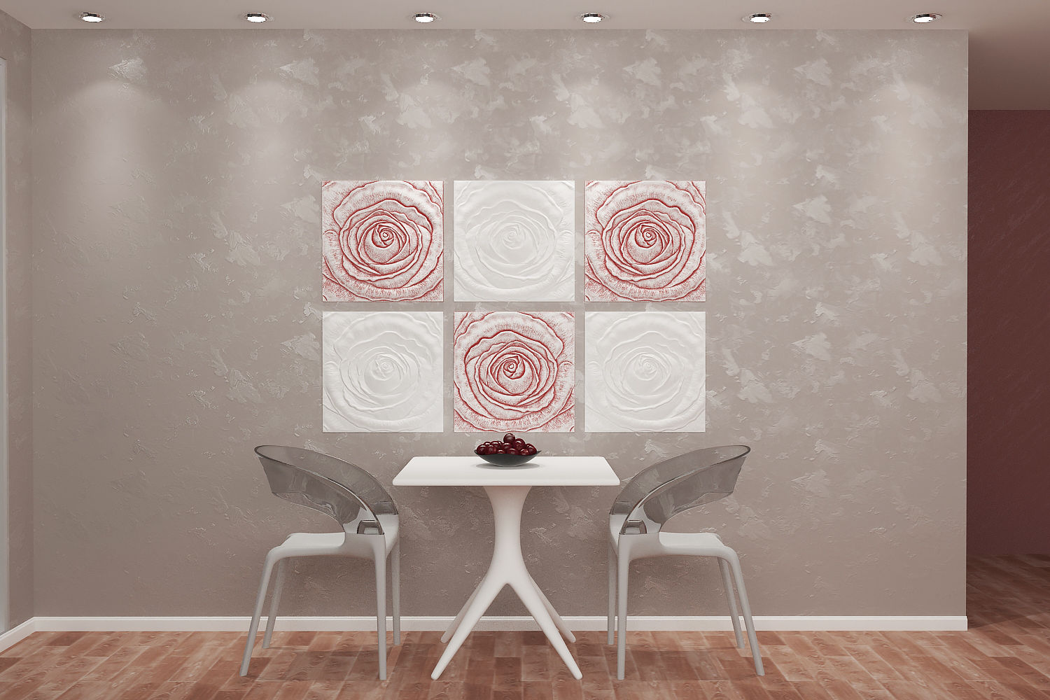 *rose Flower* 3d Decorative Wall Panels 1 Pcs Abs Plastic Mold For Plaster And To Have A Long Life. Light Equipment & Tools