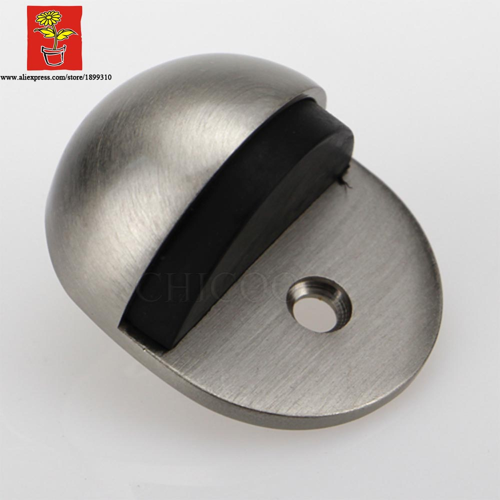 wholesale 10pcs zinc alloy satin nickel ellipse type doorstops zinc alloy oval shape door stopper