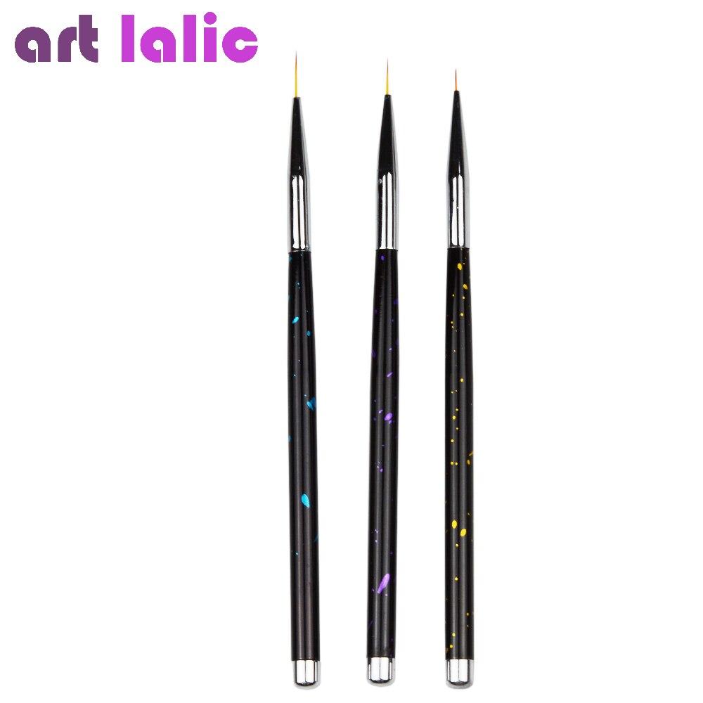 Artlalic 3pcs New Fashion Professional Nail Art Design Set Dotting Painting Drawing Brush Pen Tools Graffiti Handle