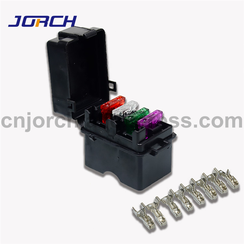 [DIAGRAM_4FR]  1 set 4 Way Black Car Medium Relay Fuse Box Assembly with 8pcs Terminals  and Medium auto fuse Car Insurance Holder|Fuses| - AliExpress | Deutsch Fuse Box |  | www.aliexpress.com