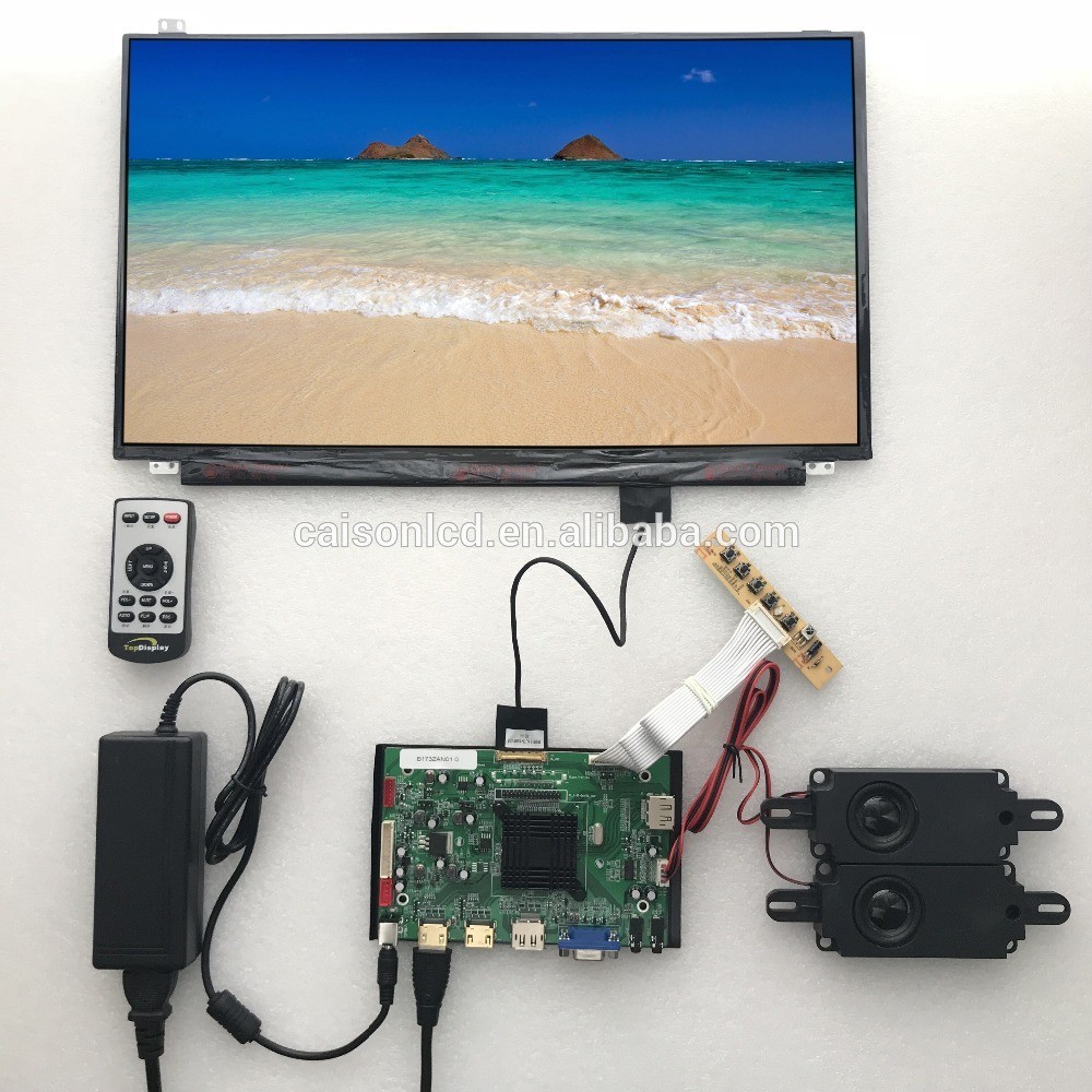 2HDMI+VGA+DP+Audio 4K LCD controller board support 17.3 inch lcd panel B173ZAN01.0 with 3840*2160