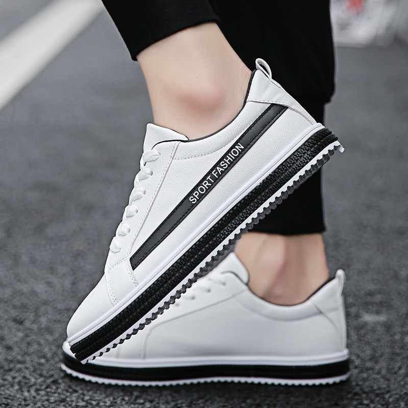 8adb37e51d4 Fooraabo Men Casual Shoes Hot Sale Fashion Breathable Lace Up Shoes Men  White Mens Zapatillas Hombre