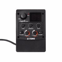 3 Band Acoustic Guitar Equalizer EQ PreAmp Pickup Amplifier LCD Tuner With Reverb Delay Chorus Phase