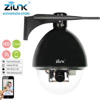 ZILNK 10x Optical Zoom 1080P HD High Speed Dome 2MP PTZ IP Camera Support PoE Night