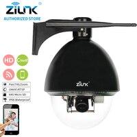 Zilnk 10x Оптический зум 1080 P HD высокой Скорость купол 2mp PTZ IP Камера Поддержка POE Ночное видение открытый i/o сигнализация TF карты 64 г Черный