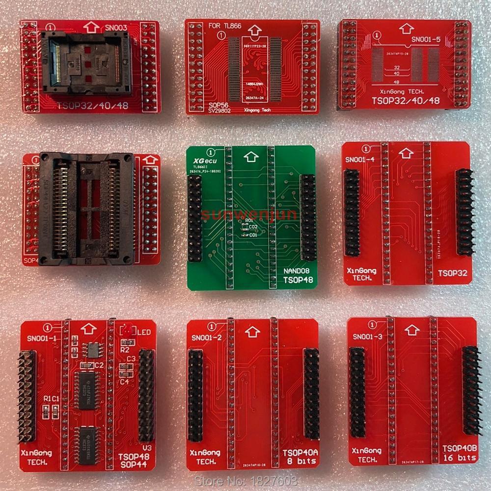 100% Genuine SN001 NAND Adapters TSOP32 TSOP40 TSOP48 SOP44 SOP56 adapter for MiniPro TL866II PLUS TL866A TL866CS Programmer