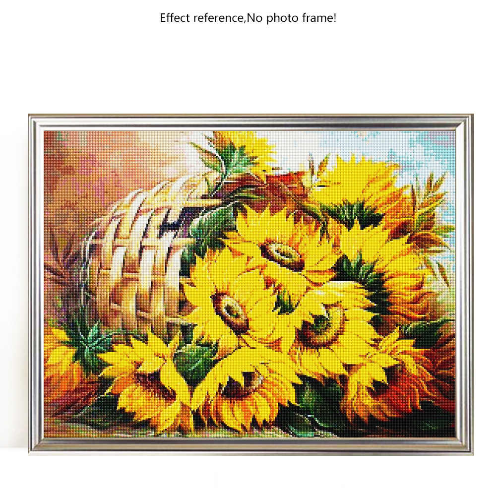 Evershine 5D diamentowe malowanie słonecznik pełny kwadratowy krzyż ściegu diamentowe hafty sprzedaż kwiaty obrazki z kryształów górskich paciorków