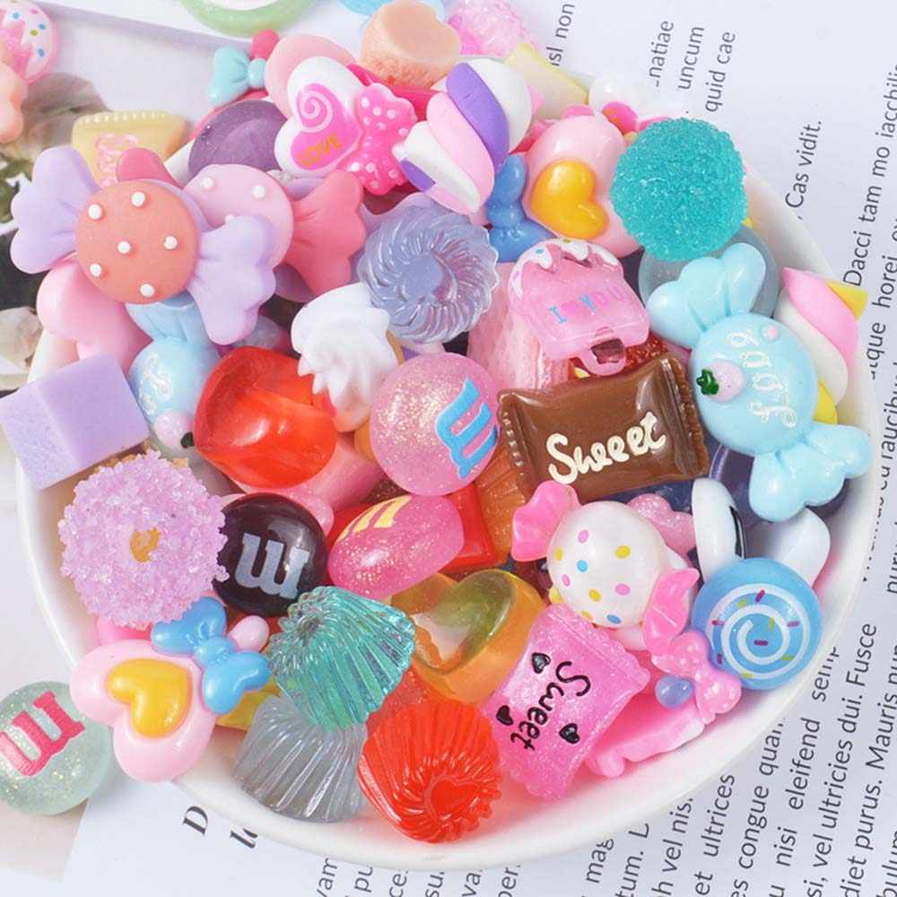 10pcs/pack Resin Candy Slime Supplies Toy Mini DIY Slime Accessories Filler for Clear Slime Random Sent