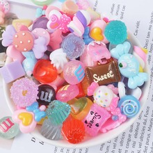 10pcs/pack Resin Candy Slime Supplies Toy Mini DIY Accessories Filler for Clear Random Sent