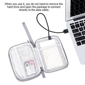 Image 4 - بوب 2.5 قرص صلب خارجي حافظة 2.5 بوصة قرص صلب HDD كابل حماية حقيبة صندوق إلكترونيات سفر منظم