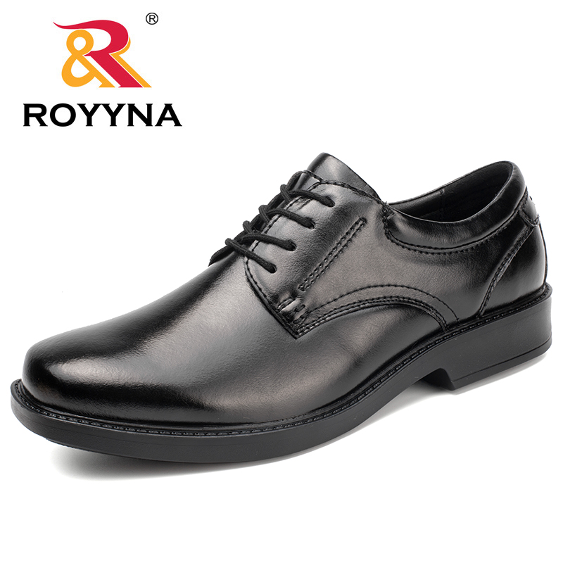 ROYYNA New Fashion Style Men Formal Shoes Lace Up Men Office Shoes Microfiber Men Shoes Comfortable