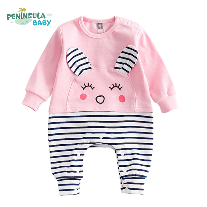 Girls And Boys Clothes Cartoon Animal Cattle Lion Rabbit Bear Baby Rompers Newborn Long Sleeve Baby Costume Infant Jumpsuit cotton baby rompers set newborn clothes baby clothing boys girls cartoon jumpsuits long sleeve overalls coveralls autumn winter