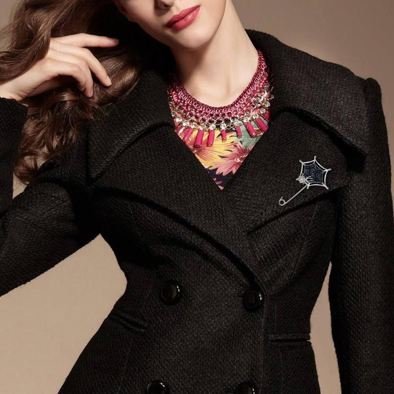 Women Coat Jacket Real Leather Belt Long British Warm Shiny Slim Fit New Chic YH