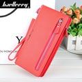 Baellerry Women Red Pink Long Wallet Bag Female Coin Purse Single Zipper Clutch Bag Ladies Wallets Fashion Woman Purses Handbags