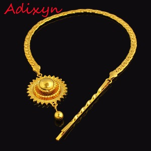 New Ethiopian Hair Chain Jewelry 24k Gold Color African/Eritrea/Kenya Women Habesha Party Accessories