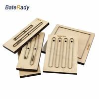 BateRady индивидуальные кожаные формы лазерный штамп, Япония сталь лезвие ПВХ/EVA резак Листов Плесень, DIY часы ремень кожа резки