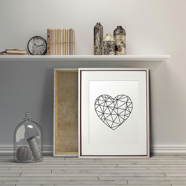 Aliexpress.com : Buy Modern Geometric Heart Wall Art