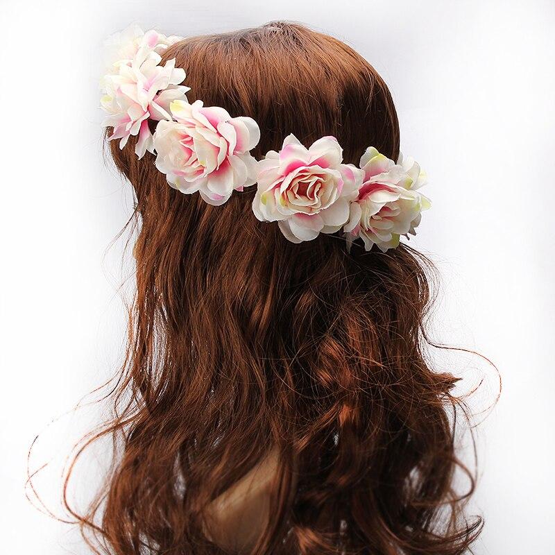 Wine Flower Women Headband Wedding Hair Garland Crown Hairband Party Wreath