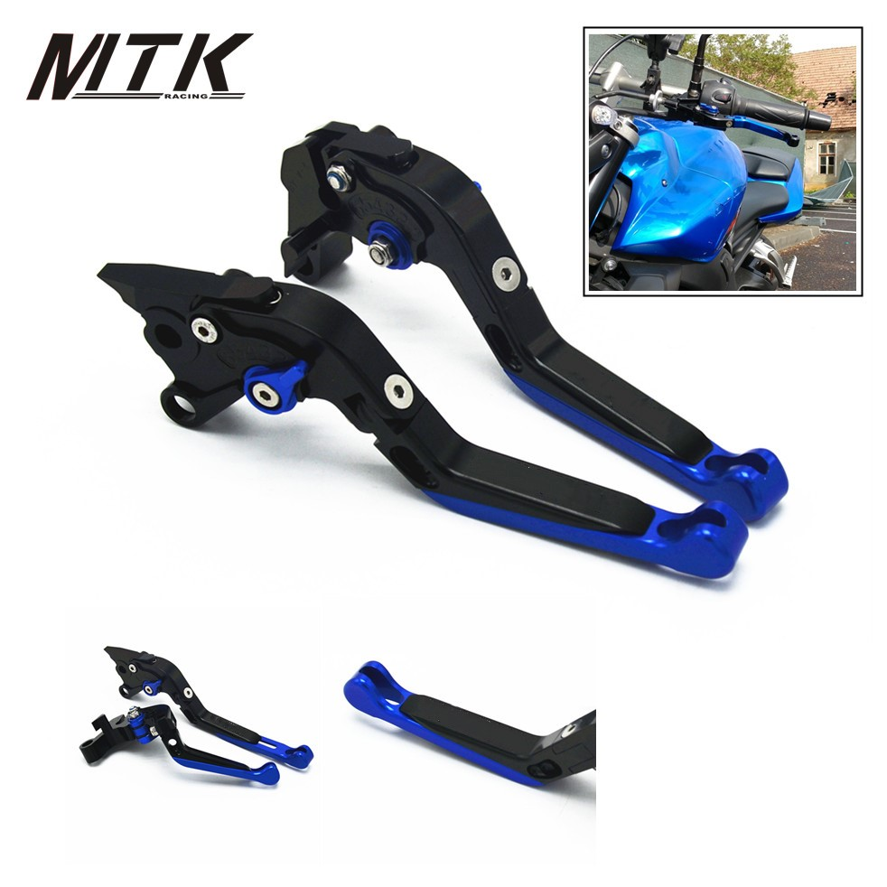 MTKRACING With Logo For YAMAHA Adjustable Motorcycle CNC Aluminum Brake Clutch Levers for Yamaha YZF R1 R6 R6S FZ1 FAZER motorcycle adjustable cnc aluminum brakes clutch levers set motorbike brake for yamaha fz1 fazer 2006 2013 xj6 diversion 09 15