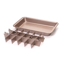 Brownie Pan, Professional Slice Solutions Non Stick Cake mold