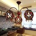 Estilo europeu Lâmpada Luminaria Pendente da Sala de Jantar Do Vintage de Metal Retro Lâmpada Três Cabeças de Suspensão Lâmpada Quarto Luz Sala de estar