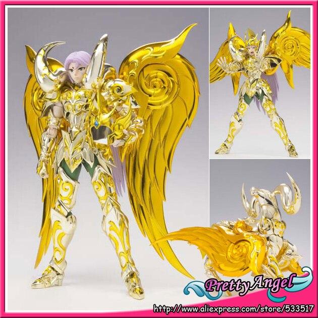 PrettyAngel - Genuine Bandai Saint Seiya Cloth Myth EX Soul of Gold God Aries Mu Action Figure brand metal club mc anime saint seiya character ex myth cloth soul of gold god ex aries mu figure