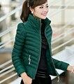 Estilo coreano Nova Moda Elegante Mulheres Super Quentes de Inverno de Algodão Down jacket gola cor Pura Grandes estaleiros Casaco Curto G1232