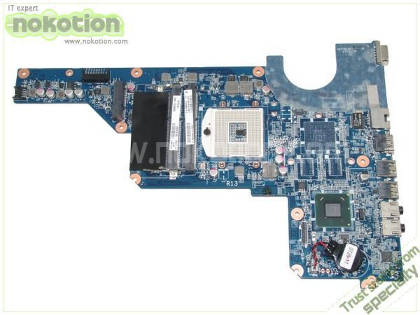 NOKOTION 636373-001 LAPTOP MOTHERBOARD for HP PAVILION G4 G7 INTEL HM65 GMA HD DDR3 Mainboard nokotion laptop motherboard for acer 5742 nv55c la 6582p intel hm55 integrated gma hd ddr3 mainboard