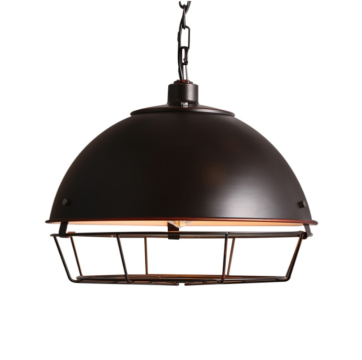 Barn Light with 410mm Canopy Shades and Metal Cage