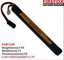 купить wholesale 1pcs 100% Orginal FireFox 11.1V 1200mAh 20C Li Po AEG Airsoft Battery L F4R12M Drop shipping по цене 1692.76 рублей