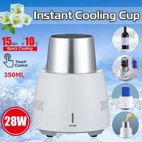 NEW 28W Instant Cooling Equipment Cup 350ML Summer Quick Cooler Electric Cooler Cup Mug Holder Machine for Beverage Yogurt Jelly