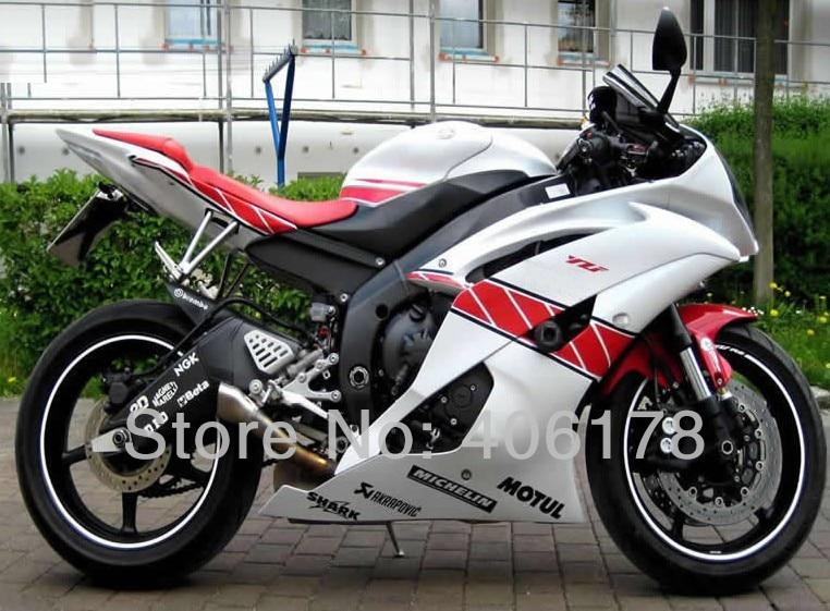 Горячие продаж,Yzf600 R6 установить 08-16 для YAMAHA R6 в комплект обтекателей 2008-2016 красный и белый Кузов мотоцикл Обтекатели (литье под давлением)