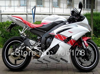 Yzf600 R6 08-16 set For YZF 600 R 6 fairing kit 2008-2016 Red and White Bodywork Motorcycle Fairings (Injection molding)