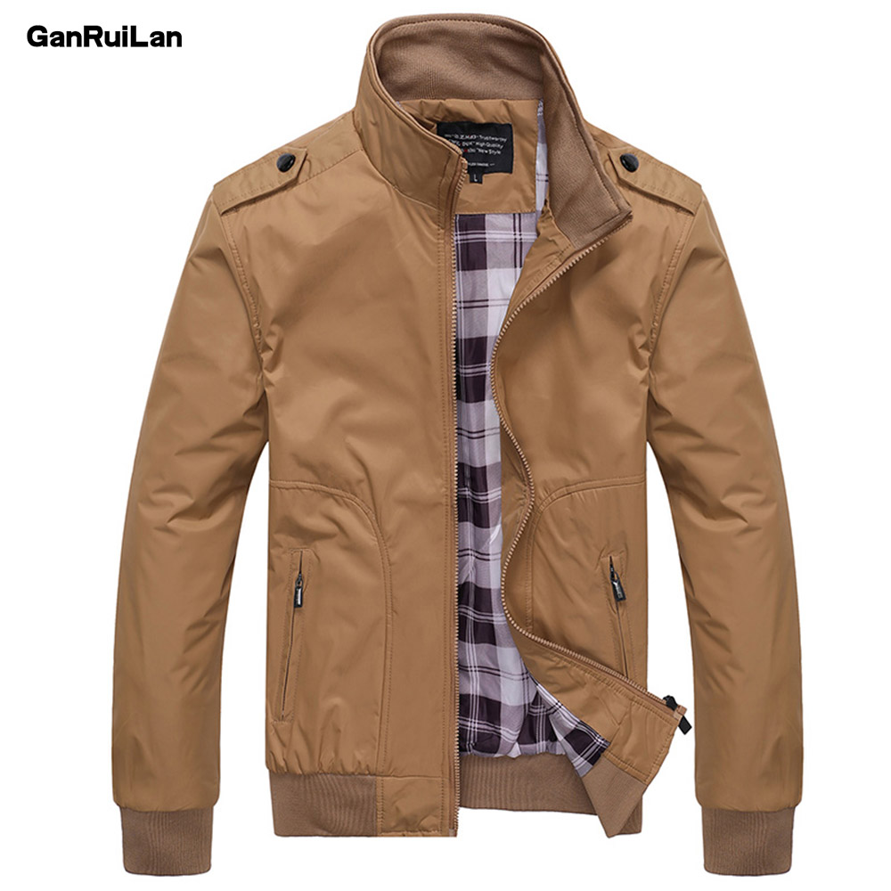2018 Fashion Spring Men's Jackets Solid Coats Male Casual Stand Collar Jacket Outerdoor Overcoat M-XXXXL JK18030
