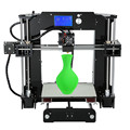 Acrylic frame Newest upgraded Anet A6 Prusa i3 3D Printer DIY kits Desktop CNC 3d printer with 12864 LCD Screen & 16G SD card
