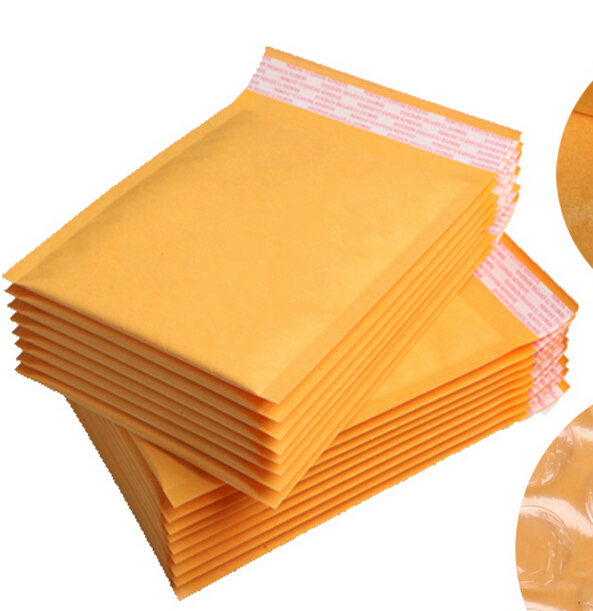 15 18cm 30pcs small kraft paper mail envelope bag yellow bubble