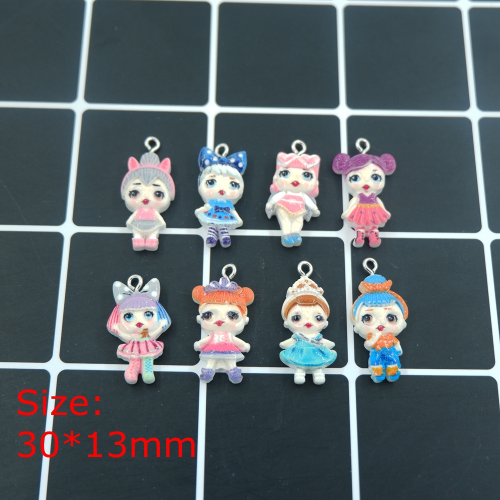 Kawaii Doll Charms Pendants For Bracelets Necklace Earring Key Chain DIY  Decoration  Jewelry Making Kids Toys