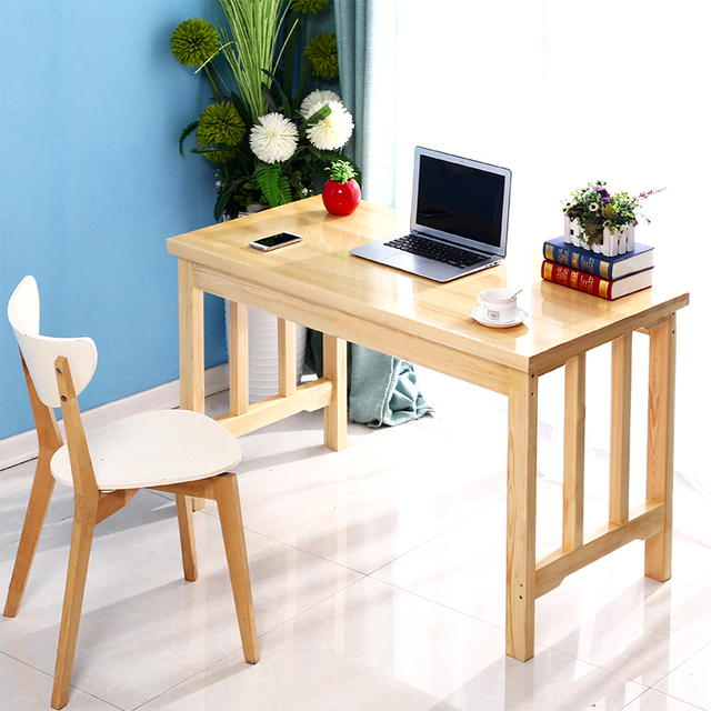 High Quality Solid Wood Notebook Simple Computer Desk Chair Home Writing Work Pine
