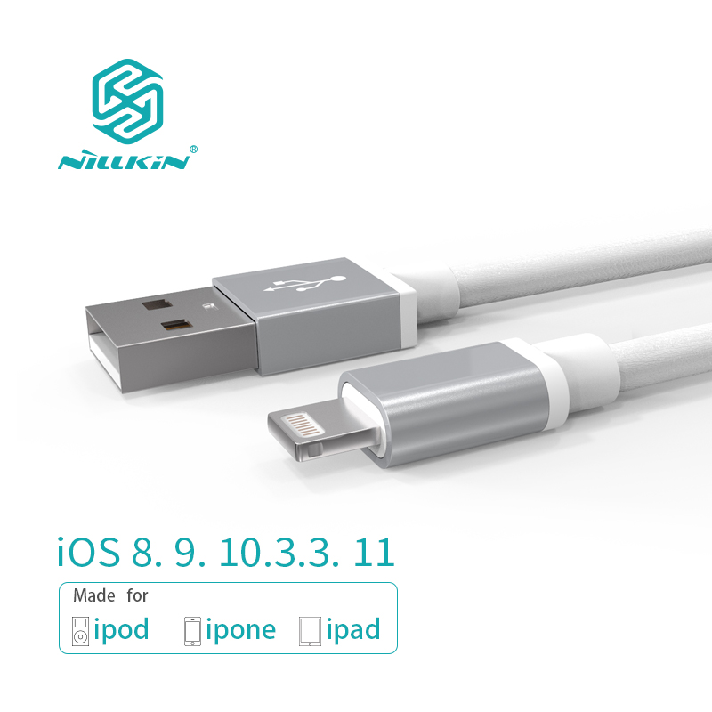 NILLKIN USB Cable for iPhone 8/8 Plus/X/7/6s For iPad Mobile <font><b>Phone</b></font> Cables MFi Lightning to USB Cable Fast <font><b>Charger</b></font> Data Cable