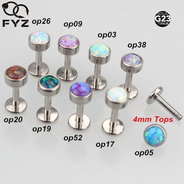 مختلطة 9 اللون أوبال G23 التيتانيوم داخليا مترابطة 16 جرام Labret شفة الأذن الغضروف هيليكس Tragus مسمار هيئة ثقب المجوهرات