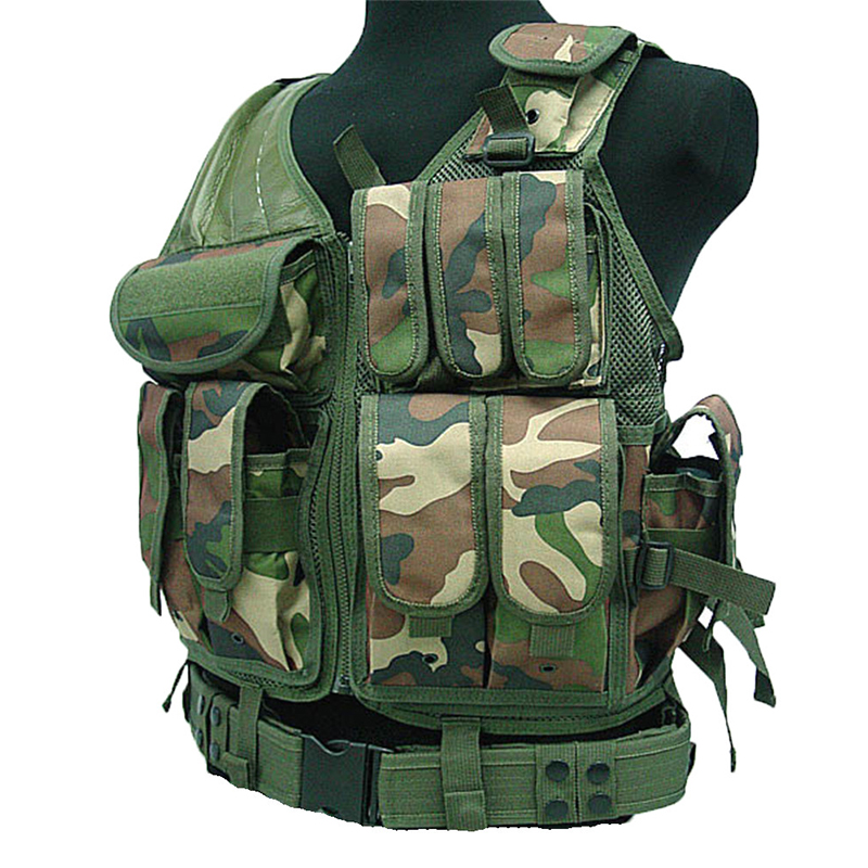2016 Police Tactical Camouflage Vest Outdoor Military Airsoft Hiking Body Armor Sports Wear Hunting Army Swat Molle Men Vests tactical vest men training cs tactical breathable men hiking vest outdoor sport military hunting shooting vest men hmt0034 5