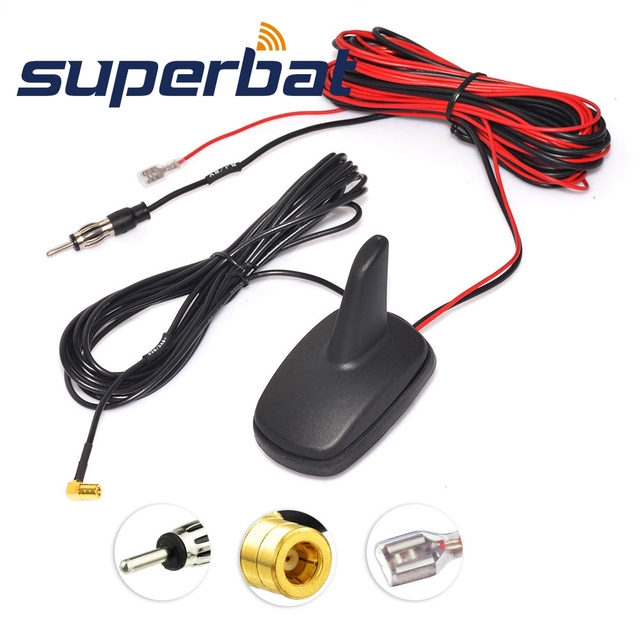 Superbat DAB/DAB +/FM/AM Auto Digital Radio Antenne Dach Montieren Antenne mit Amplified SMB Stecker