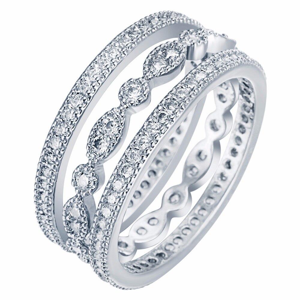 3 հատ եզակի միկրո հարթած սպիտակ - Նորաձև զարդեր - Լուսանկար 5
