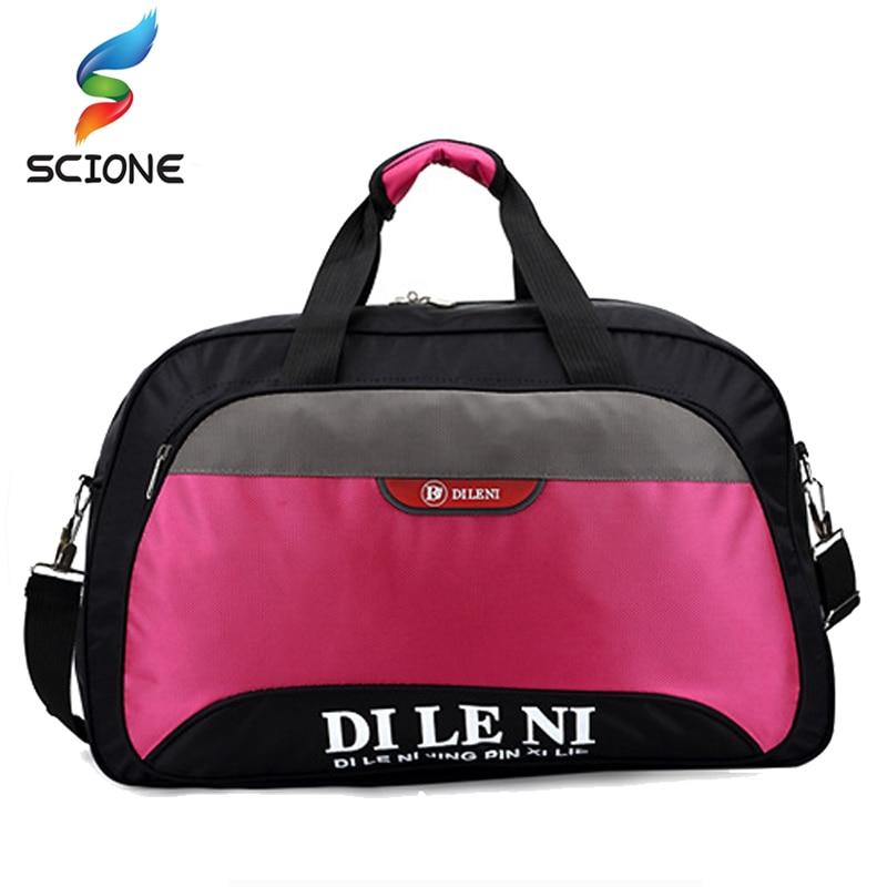Hot Women Travel Gym Bags Men Sukan Yoga Duffle Bags Nylon Waterproof Daily Travel Handbag Bag Shoulder Bag Bolso Deporte