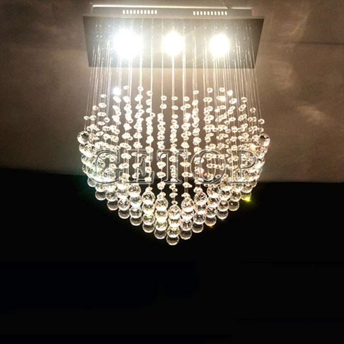 Z Heart Shaped K9 Crystal Lamps Romantic LED Heart Crystal Chandelier Bedroom Lamp Lights Hanging Wire