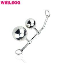 2 шары женского целомудрия устройства анальный крюк влагалища и анального butt plug анальные игрушки гей секс-игрушки для мужчин buttplug