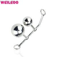 2 bolas dispositivo de castidad femenina gancho anal vagina y anal butt plug plug anal juguetes juguetes sexuales gay para los hombres buttplug