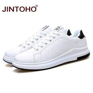 Image 2 - JINTOHO גדול גודל מותג אופנה מקרית עור נעלי גברים עור נעלי עור גברים סניקרס לבן זכר עור נעליים